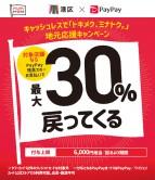 「トキメク、ミナトク。」最大 30%戻ってくるキャンペーンのお知らせ